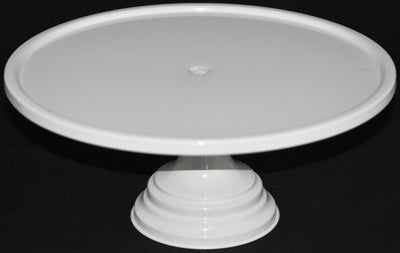 "GiftBay Creations® Pedestal Cake Stand 13"" Diameter (Top) Metal (White)"
