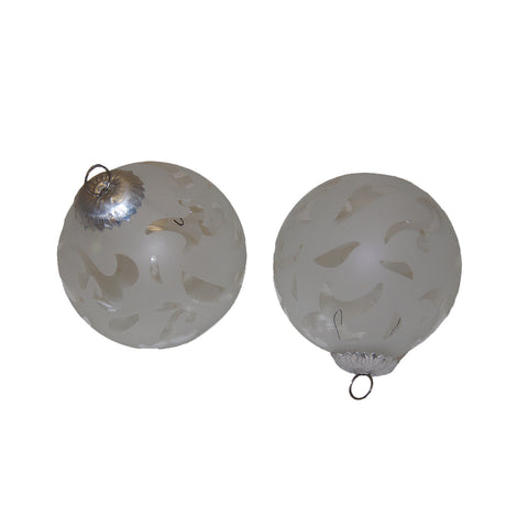 GiftBay 249(S/2) Glass Christmas Tree Ornament set of 2 Pcs. An Antique-look Glass Ornament set.