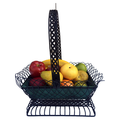 "GiftBay 813-BG Metal Basket, 16.5"" High Very Unique Design and Strongly Built for Use as Flower Pot and Fruit Basket"