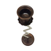 "GiftBay 1011 Candlestick Holder, Antique Copper and Silver Finish, 9.5""h"