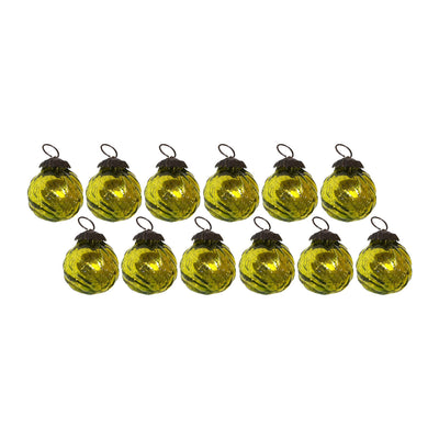 GiftBay Christmas Glass Ornament 024 (Set of 12)