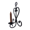 "GiftBay 14019 Beautiful Candle Sconce 12"" High, Black Powder Coated"