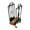 "GiftBay 1112 (S/5) Fire Tool Set & Log Holder| 31.5"" High 