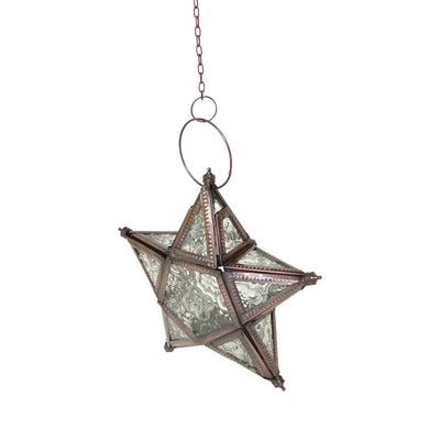 "GiftBay 306 Hanging Star with Tealight Holder 9"" High"