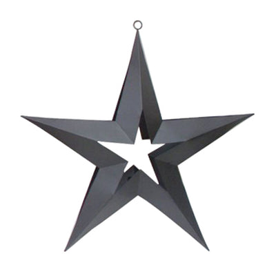 "GiftBay 322-E Black Hanging Star with Tealight Holder 8"" High"
