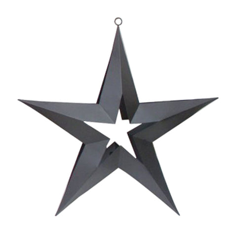 "GiftBay 322-B Black Hanging Star with Tealight Holder 20"" High"