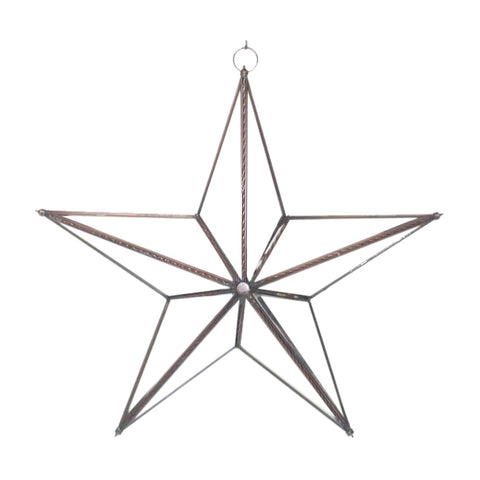 "GiftBay 339 Huge Clear Hanging Glass Star 15"" High for Indoor and Outdoor Festive Christmas Decoration."