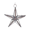 "GiftBay 340 Clear Hanging Glass Star 9"" High for Indoor and Outdoor Festive Christmas Decoration."