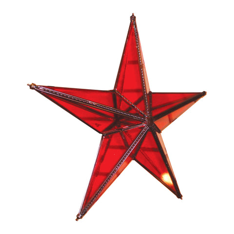 "GiftBay 341-R Huge Red Hanging Glass Star 20"" High for Indoor and Outdoor Festive Christmas Decoration."