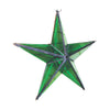 "GiftBay 342-G Huge Green Hanging Glass Star 15"" High for Indoor and Outdoor Festive Christmas Decoration."