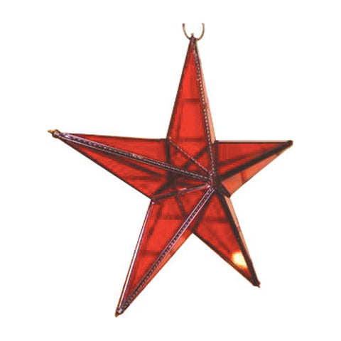 "GiftBay 342-R Huge Red Hanging Glass Star 15"" High for Indoor and Outdoor Festive Christmas Decoration."
