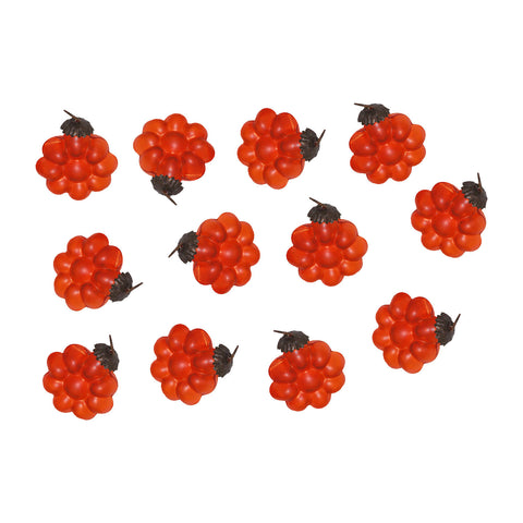 GiftBay 030(S/12)Orange Flower Glass Christmas Tree Ornament Set of 12 Pcs. An Antique-look Glass Ornament Set.
