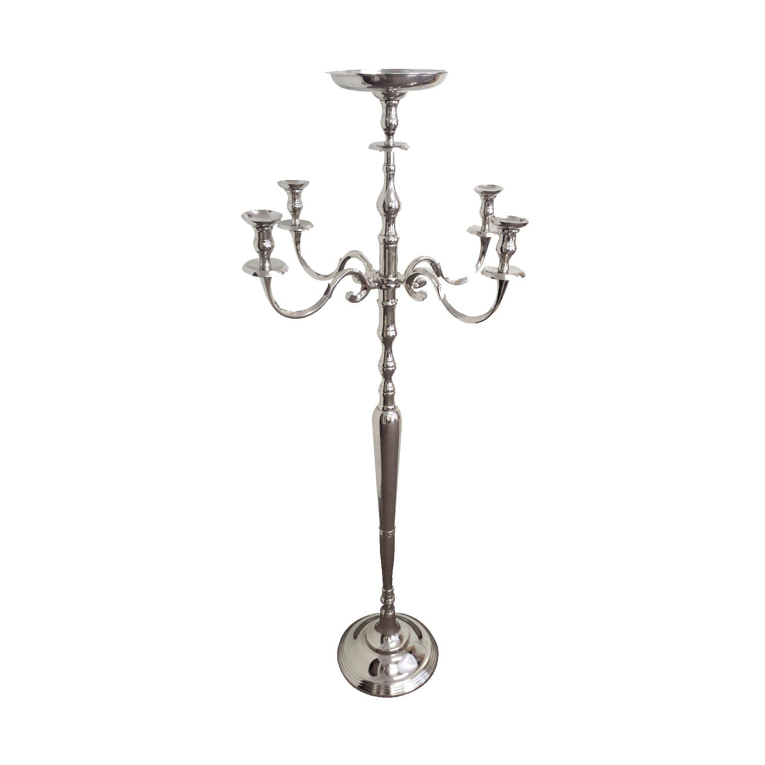 giftbay 4016 wedding candelabra with 5 candlestick holders and 1 flowe