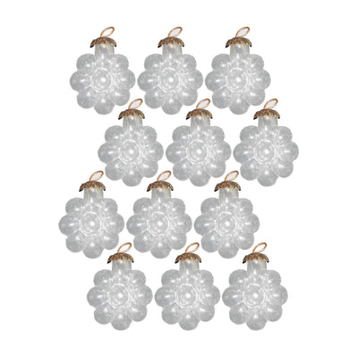 GiftBay Christmas Glass Ornament 017 (Set of 12)