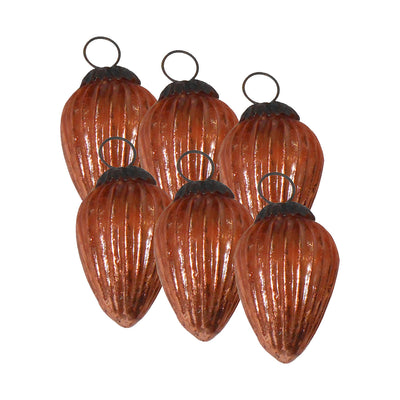 GiftBay 242(S/6) Glass Christmas Tree Ornament Set of 6 Pcs. An Antique-look Glass Ornament Set.