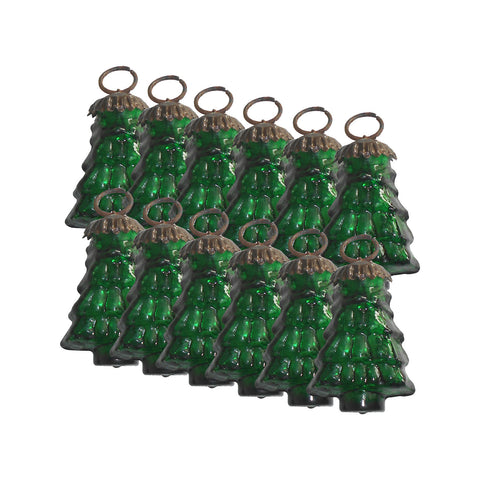 GiftBay 239(S/12) Glass Christmas Tree Ornament Set of 12 Pcs. An Antique-look Glass Ornament Set.