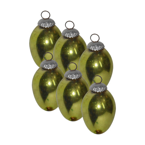 GiftBay 252(S/6) Glass Christmas Tree Ornament Set of 6 Pcs. An Antique-look Glass Ornament Set.