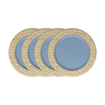 "GiftBay CP-003(S/4) Wedding Metal Charger Plates 13"" Round Set of 4 Plates Made of Heavy Metal Sheet"