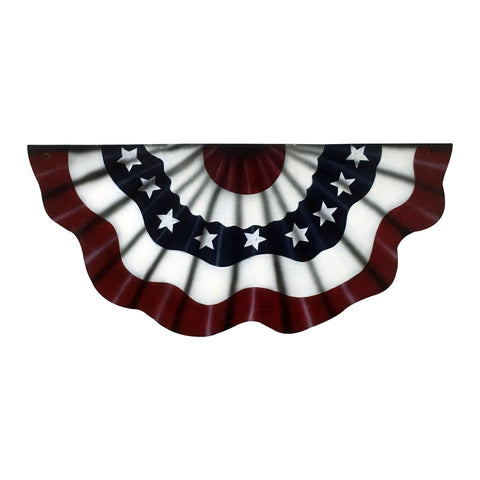 "GiftBay Wooden Wall Mounted American Flag Bunting, 33.5"" Length"