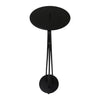 "GiftBay 14016 Beautiful Pillar Holder 25"", Black Powder Coated Finish"