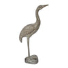 "GiftBay GS-507 Garden Crane Statue, Solid Aluminum Metal, 14.5"" Height, Brown Patina Finish"