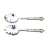 GiftBay 581 Beautiful Silver Finish Salad Fork & Spoon 2 Pc Set 10""
