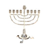 GiftBay 6006 Menorah 9-Branch with Star of David Silver Plated to Celebrate Hanukkah! A Bargain Valued Menorah Gift