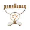 GiftBay 6007 Menorah 9-Branch with Star of David Two-Tone Silver and Copper Finish to Celebrate Hanukkah! A Bargain Valued Menorah Gift.