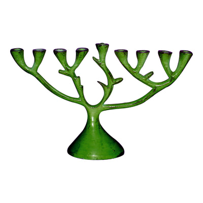 "GiftBay 6053 ""Tree of Life"" Menorah Made of Metal Bargain Priced 7.5""L X 5""H"