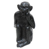 "GiftBay GS-1271(S/3) Monkey Statue Set of 3 in Different Poses, Solid Cast Aluminum, 6.25"", 6.5"" & 7.25"" Height, Black Patina Finish"