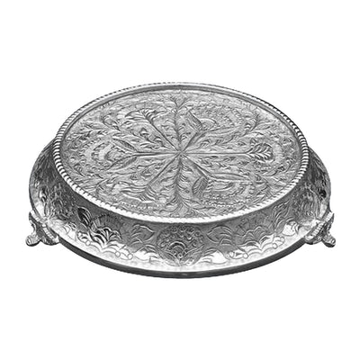 "GiftBay Wedding Cake Stand Tapered Round 12"", Silver"