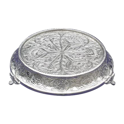 "GiftBay Wedding Cake Stand Tapered Round 14"", Silver"