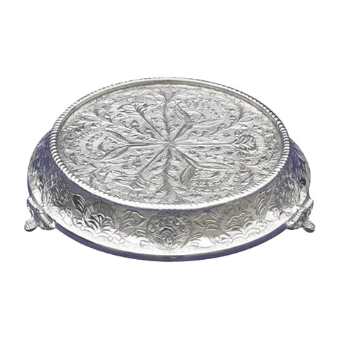 "GiftBay 644-16R Wedding Cake Stand Tapered Round 16"", Silver"