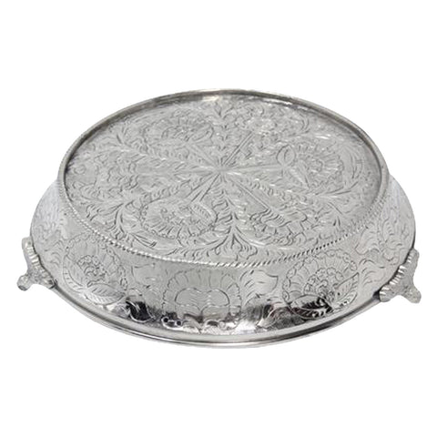 "GiftBay Wedding Cake Stand Tapered Round 18"", Silver"