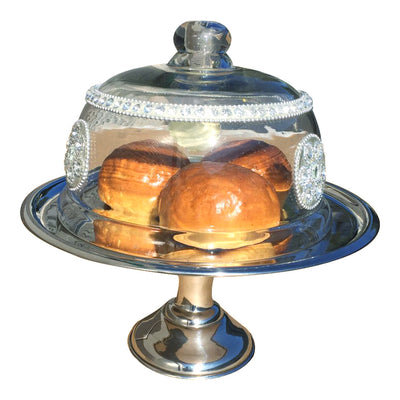 GiftBay Creations® Wedding Cake Stand Pedestal Stainless Steel