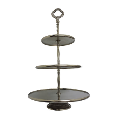 "GiftBay 560 Classic 3-Tier Cupcake Stand Silver Round 20"" High"