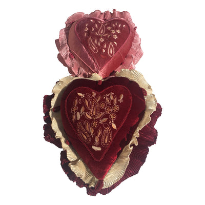 "GiftBay Heart Shape Set of 2 Throw Pillow Cushion Cover 11"" x 13"" with Pillow"