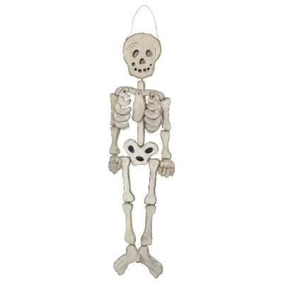 GiftBay Halloween Hanging Skeleton - Full Body (Wooden) 40 Inches, Perfect for Halloween Decoration