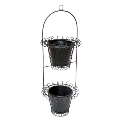 "GiftBay 812-B Tall Wire & Pot Black Container / Vase 33"" High. Very Unique and Strongly Built for Multi- Purpose Use"