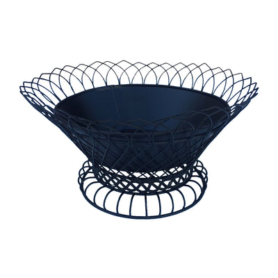 "GiftBay 808-B Wire Bowl & Pot Black Container.14"" diameter, Very Unique and Strongly Built for Multi- Purpose Use"