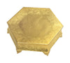 "GiftBay Wedding Cake Stand Hexagonal Shape 16"", Aluminum Gold Finish"