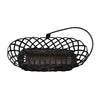 "GiftBay 902 Metal Wire Basket Black 11""x5""x4"" High"