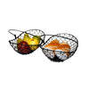 "GiftBay 903 Metal Wire Basket Black 12""x9""x4"" High"