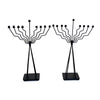 "GiftBay 16003 Menorah 9-Branch Black Finish Set of 2 Contemporary Look 20"" High to Celebrate Hanukkah and Gifts, An Excellent Unbeatable Value"
