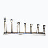 "GiftBay 6038 Menorah and Candle Stick Holder In Shape of ""I"" with Nickel Plated"