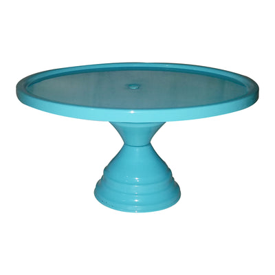 "GiftBay Creations® Pedestal Cake Stand 13"" Diameter (Top) Metal (Blue)"