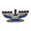 "GiftBay 6044 Menorah 9-Branch with Beaded Art Work to Celebrate Hanukkah! 8""L X 1.75""W X 4.25""H"
