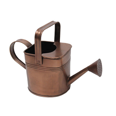 "GiftBay, Watering Can, Metal With Dual Handle 7.5"" High, 1.0 Gallon, Antique Copper Finish"