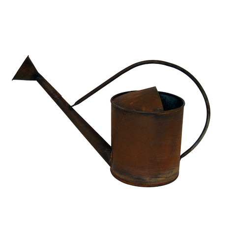 "GiftBay WatCan-1327 Flower Vase for Artificial Flowers Arrangement, Watering Can Shape, Metal With Handle 10"" High, 1.5 Gallon, Antique Copper Finish"