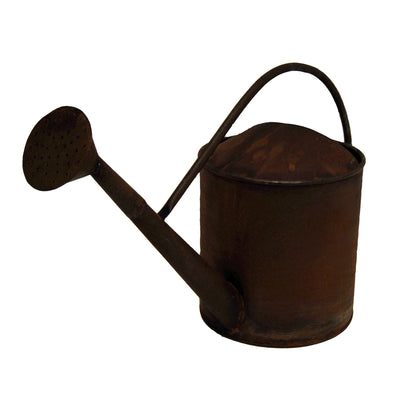 "GiftBay Watering Can, Strongly Built, Metal With Handle 10"" High, 2.75 Gallon, Antique Rust Finish"